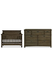 Varsity Baby Bedroom Set, 2-Pc. Set (Crib & Dresser)