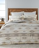 Martha Stewart Collection Stonemeadow Cotton Ikat Flannel Bedding Collection, Created for Macy's