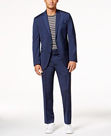 Men's Big and Tall Slim-Fit Navy Iridescent Ready Flex Suit