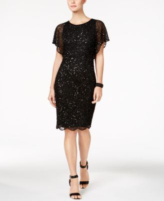 Delicieux Adrianna Papell Beaded Sequined Dress