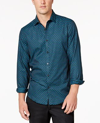 Alfani Men's Levon Checked Shirt, Created for Macy's