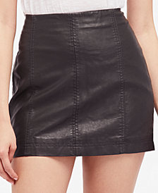 Free People Modern Femme Faux-Leather Mini Skirt