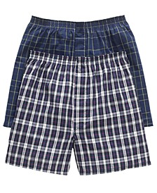 Men's Big & Tall Classic Boxers 2-Pack