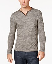 172eae4c Alfani Men's Textured Space-Dyed Stretch Henley, Created for Macy's