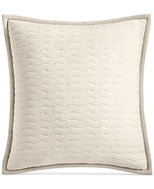 CLOSEOUT! Modern Wave Quilted European Sham, Created for Macy's