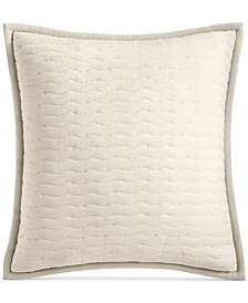 CLOSEOUT! Hotel Collection Arabesque Cotton Quilted European Sham, Created for Macy's
