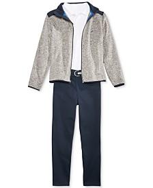 Nautica Uniform Fleece Jacket, Long-Sleeve Polo, & Flat-Front Twill Pants Separates, Big Boys