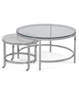 Volko Round Coffee Nesting Table