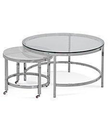 Volko Round Coffee Nesting Table