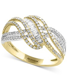 Duo by EFFY® Diamond Crisscross Swirl Ring (3/4 ct. t.w.) in 14k Gold & White Gold