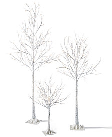 mr christmas led birch tree collection - Mr Christmas Outdoor Decorations