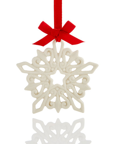 Lenox Pierced Snowflake Charm Ornament, Created for