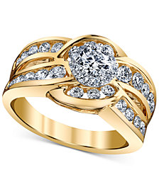 Diamond Engagement Twist Ring (1-1/4 ct. t.w.) in 14k Gold and White Gold
