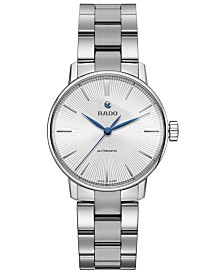 Rado Women's Swiss Automatic Coupole Classic Stainless Steel Bracelet Watch 32mm