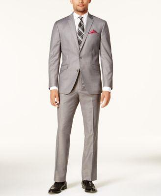 Men's Ready Flex Basketweave Slim-Fit Suit