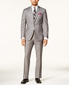 Men's Ready Flex Basketweave Slim-Fit Suit