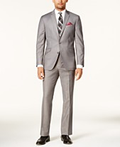 62ee4f0b Kenneth Cole Reaction Men's Techni-Cole Basketweave Slim-Fit Big and Tall  Suit