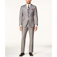 Deals on Kenneth Cole Reaction Men Ready Flex Basketweave Slim-Fit Suit