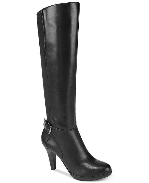 7537be064 Alfani Women's Step 'N Flex Vennuss Dress Boots, Created for Macy's ...