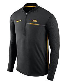 Nike Men's LSU Tigers Coaches Quarter-Zip Pullover