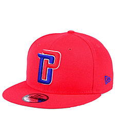 New Era Detroit Pistons Solid Alternate 9FIFTY Snapback Cap