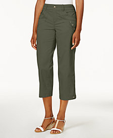 Style & Co Petite Twill Capri Pants, Created for Macy's