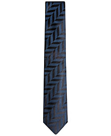 Alfani Men's Geometric Silk Skinny Tie, Created for Macy's