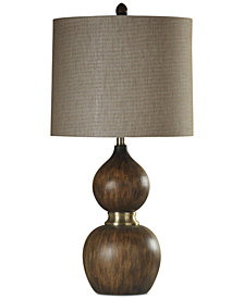 StyleCraft Mizoram Wood Table Lamp