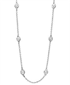 "Trio by EFFY® Diamond Seven Station Necklace 16-18"" (1/2 ct. t.w.) in 14k Gold"