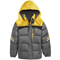 CB Sports Hooded Colorblocked Puffer Coat Big Boys (Yellow)