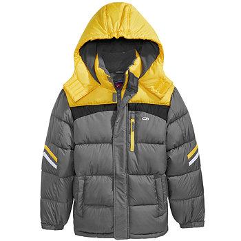 CB Sports Hooded Colorblocked Puffer Coat Big Boys