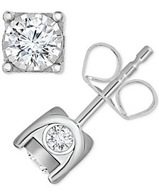 TruMiracle® Diamond Stud Earrings (5/8 ct. t.w.) in 14k Gold or White Gold