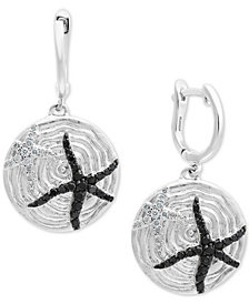 Balissima by EFFY® Diamond Starfish Drop Earrings (1/2 ct. t.w.) in Sterling Silver