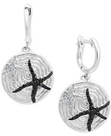 Balissima by EFFY® Diamond Starfish Drop Earrings (1/2 ct. t.w.) in Sterling Silver