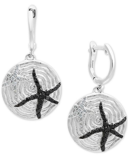 EFFY Collection Balissima by EFFY® Diamond Starfish Drop Earrings (1/2 ct. t.w.) in Sterling Silver