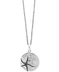 Balissima by EFFY® Diamond Starfish Pendant Necklace (5/8 ct. t.w.) in Sterling Silver