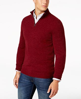 Club Room Men's Quarter-Zip Cashmere Sweater, Created for Macy's