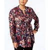 Deals on Style & Co Plus Size Printed Pintuck Blouse