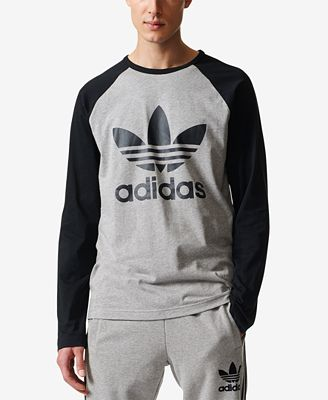 Adidas originals men 39 s trefoil long sleeve t shirt t for Adidas long sleeve t shirt with trefoil logo