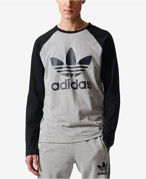 adidas Men s Trefoil Long-Sleeve T-Shirt - T-Shirts - Men - Macy s f57cf364e