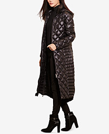 Lauren Ralph Lauren Diamond Quilted Packable Down Maxi Coat