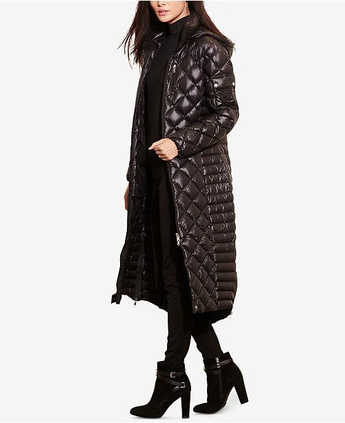 Lauren Ralph Lauren Maxi Packable Quilted Down Jacket