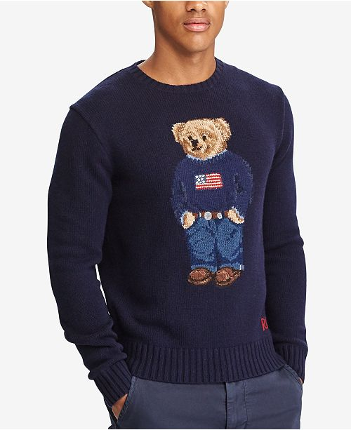 polo ralph lauren men s iconic polo bear sweater sweaters men