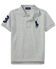 Ralph Lauren Embroidered Cotton Polo, Little Boys