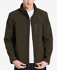 Calvin Klein Men's Big & Tall Softshell Full-Zip Jacket