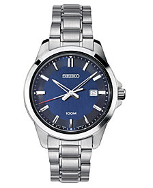 LIMITED EDITION Seiko Men's Special Value Stainless Steel Bracelet Watch 42mm