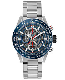 TAG Heuer Men's Swiss Automatic Chronograph Carrera Stainless Steel Bracelet Watch 43mm