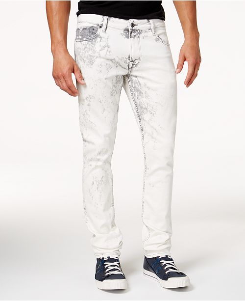 GUESS Men's Shadow Wash Skinny Fit Stretch Jeans