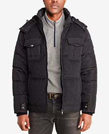 Sean John Men's Quilted Wool-Blend Puffer Jacket