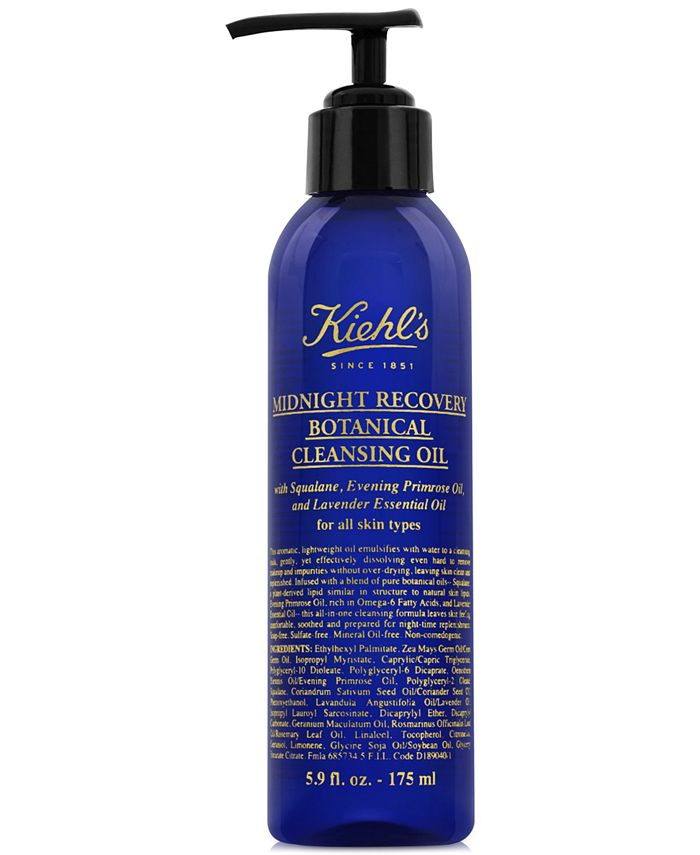 Kiehl's Since 1851 - Midnight Recovery Botanical Cleansing Oil, 5.9-oz.
